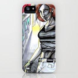 Alleyway Lurker iPhone Case