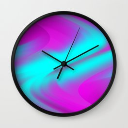 DREAM PATH (Purples, Fuchsias & Turquoises) Wall Clock