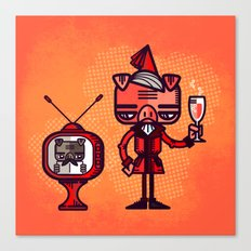 Lounge Pig Canvas Print