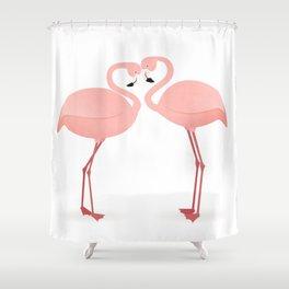Flamingo Love Shower Curtain