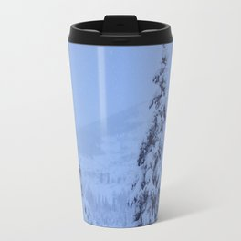Snow Laden Evergreen Trees Travel Mug