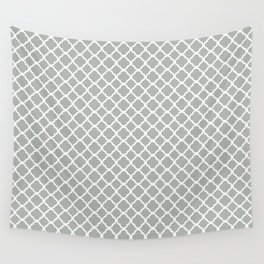 Quatrefoil in Silver Gray Wall Tapestry