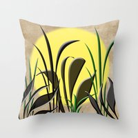 serenity Throw Pillows featuring Serenity by Judith Lee Folde Photography & Art