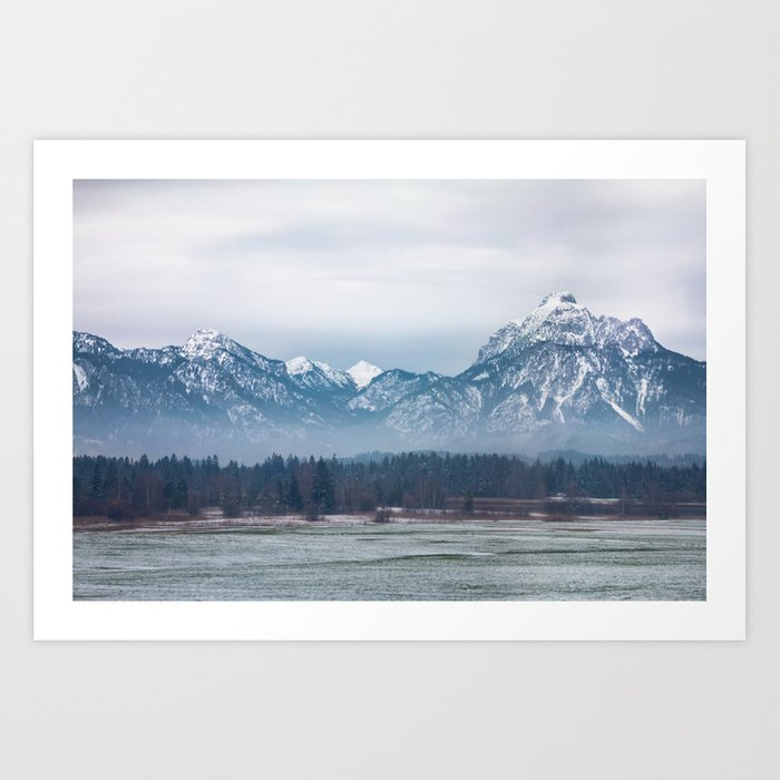 Bavrian Alps Art Print