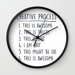 Creative Process Wall Clock