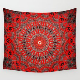 Rich Red Vintage Mandala Wall Tapestry