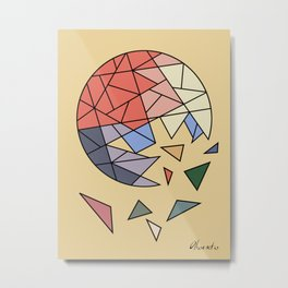 CONSTANT EVOLUTION (abstract geometric) Metal Print