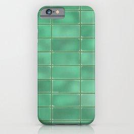 Cyan Tiles iPhone Case