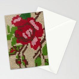 rose needlepoint Stationery Cards