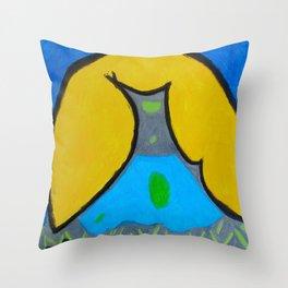 Wolf-less Throw Pillow