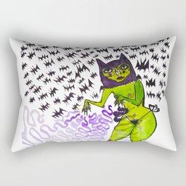 Bat Woman Rectangular Pillow