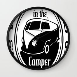 What Happens in the Camper - Camping Novelty Wall Clock