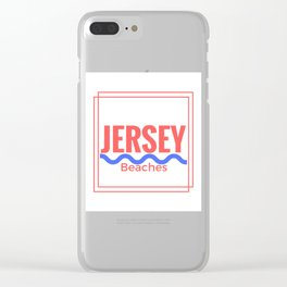 Jersey Beaches Graphic Clear iPhone Case