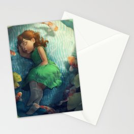 Sleepy Mermaid Stationery Cards