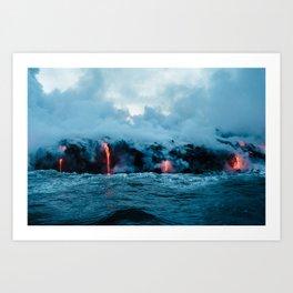 Volcano #ocean Art Print