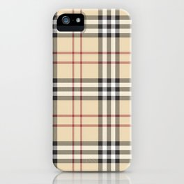 red line patter iPhone Case