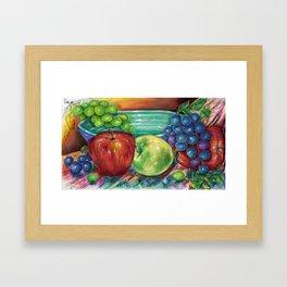 Fruit with Bowl Framed Art Print