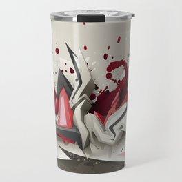 Red Metal Travel Mug