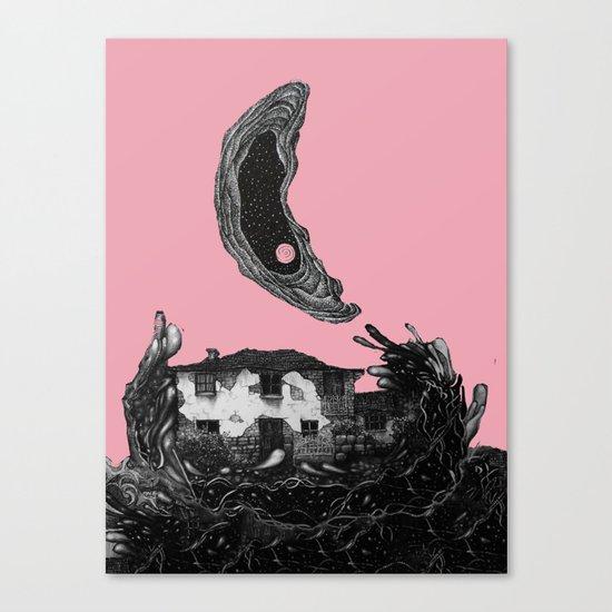 house/mon, pink# Canvas Print