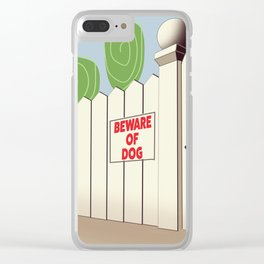 Beware of Dog vintage cartoon Clear iPhone Case