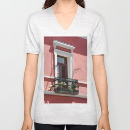 Balconies of Puebla  Unisex V-Neck