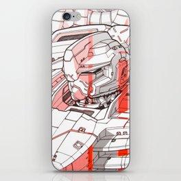 Red Mecha iPhone Skin