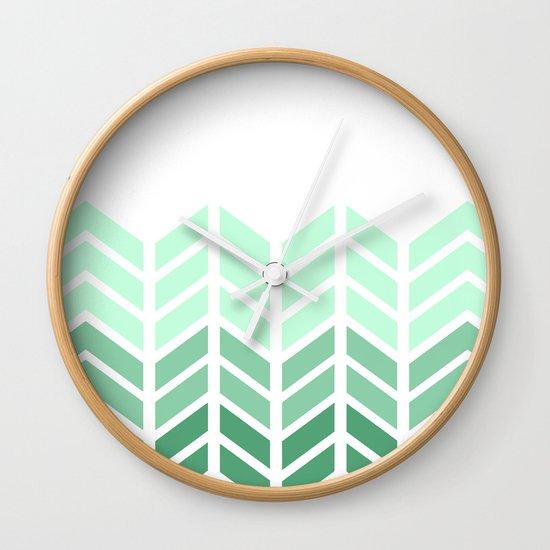 OMBRE LACE CHEVRON Wall Clock