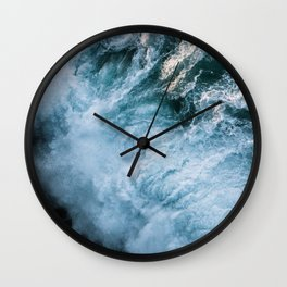 Wave in Ireland during sunset - Oceanscape Wall Clock
