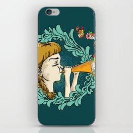 Girl with Trumpet iPhone Skin
