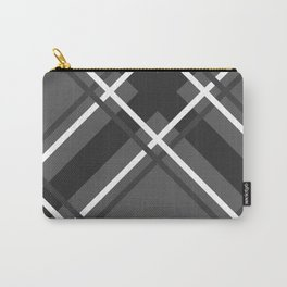 Jumbo Scale Men's Plaid Pattern Carry-All Pouch