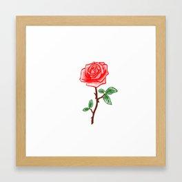 The Last Rose Framed Art Print