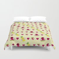 fruits Duvet Covers featuring Fruits by Jackiemtmtz