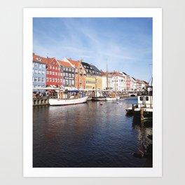 Colorful Nyhavn Canal, Copenhagen (Portrait) Art Print