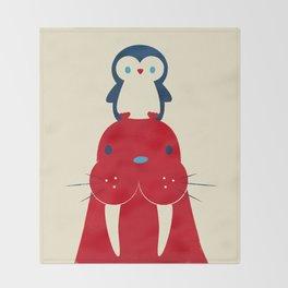 Penguin & Walrus Throw Blanket