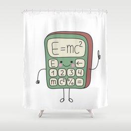 cartoon funny calculator smiles Shower Curtain