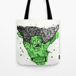 robot showbot Tote Bag