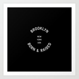 Brooklyn - NY, USA (Badge) Art Print