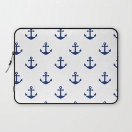 Sea blue Anchor Pattern Laptop Sleeve
