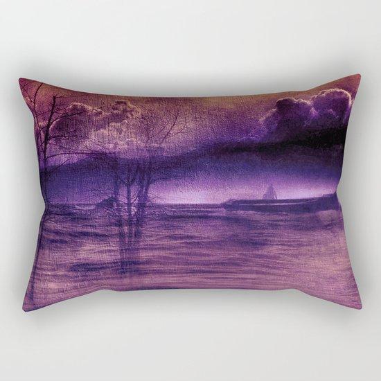 purple trip Rectangular Pillow