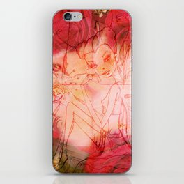 girl butterfly iPhone Skin