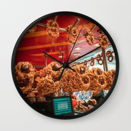 Koln Pretzels Wall Clock