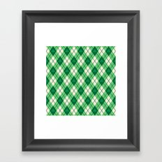 Irish Argyle Framed Art Print