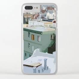 San Francisco Houses Clear iPhone Case