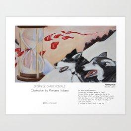 """Ammarnäs"" in words & image (F.Vuillamy) Art Print"