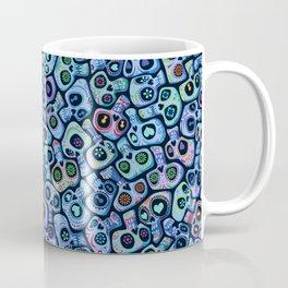 Calaveras del Dia de los Muertos azules. Coffee Mug