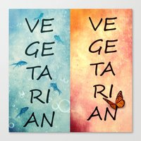 vegetarian Canvas Prints featuring Vegetarian by SensualPatterns