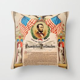 1863 Emancipation Proclamation by President Abraham Lincoln Throw Pillow