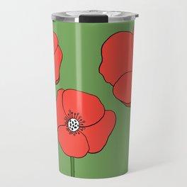 Red Poppies by Emma Freeman Designs Travel Mug