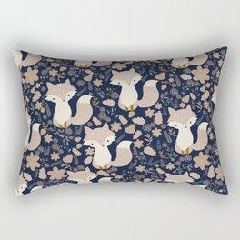 autumn and the fox Rectangular Pillow
