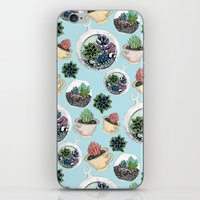 succulents iPhone & iPod Skins featuring Succulents by Sofia Kraushaar